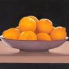 """Lemon Bowl"", 5"" x 7"", oil on panel, Robert K. Roark. SOLD"